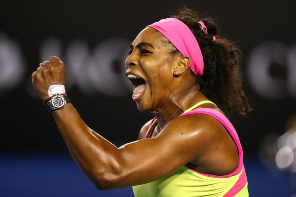 Williams hits 18 aces and 38 winners in one hour and 51 minutes at her Sixth Australian Open.