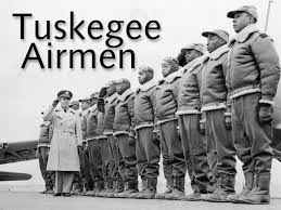 Tuskegee Airmen at attention