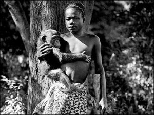 """In 1906, the Bronx Zoo kept Ota Benga on a human exhibit. The sign outside of her fenced in area of the primate exhibit read, """"Age, 23 years. Height, 4 feet 11 inches. Weight, 103 pounds. Brought from the Kasai River, Congo Free State, South Central Africa, by Dr. Samuel P. Verner. Exhibited each afternoon during September."""""""